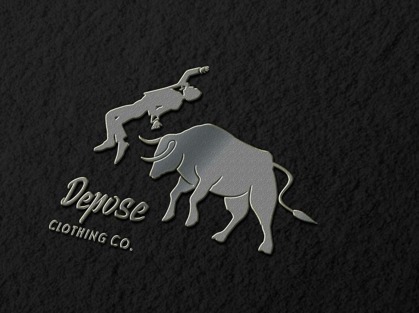 metalic logo mockup