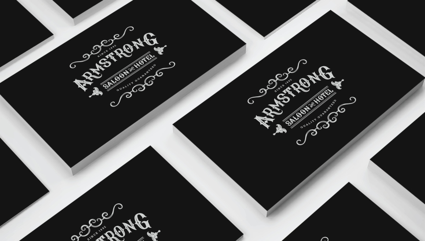 650 gsm White Edge Business Cards